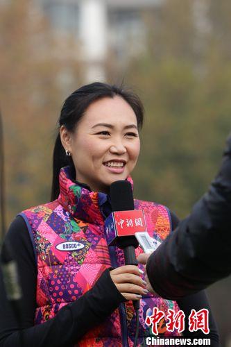 陈露接受<a target='_blank' href='http://www.chinanews.com/' >中新网</a>专访。